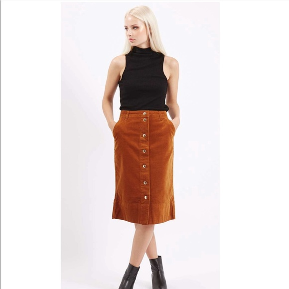44b68d2ee2 Topshop Cord Button Front Midi Skirt. M_5aae4142a44dbef0853ee2d8